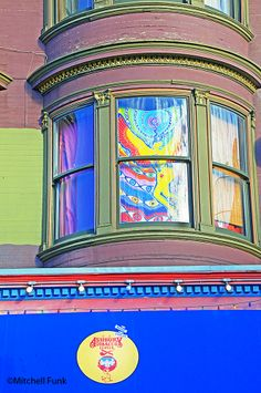 Window Of Colorful Victorian House In Haight Ashbury,  San Francisco By Mitchell Funk  www.mitchellfunk.com