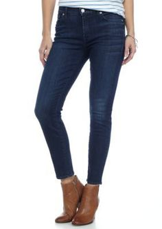 7 For All Mankind Women's The Cropped Skinny Jeans - Dark Brisbane - 32