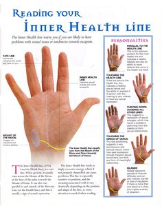 Inner health line / palmistry / palm reading / divination Palmistry Reading, Tarot Reading, Tea Reading, Reiki, Pseudo Science, Fortune Telling, Palm Of Your Hand, Mind Body Spirit, Psychic Abilities
