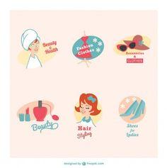 beauty-and-health-retro-emblems_23-2147493074.jpg (623×626)