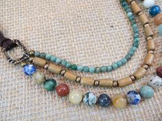 Layered Necklace Statement Necklace Beaded Necklace Gemstone