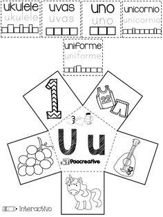 Genial material para fortalecer las vocales en preescolar, primer y segundo grado de primaria | Material Educativo Spanish Activities, Alphabet Activities, Activities For Kids, English Book, Learning Letters, Math Games, Phonics, Vocabulary, Literacy