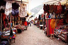 Outdoor market in Peru