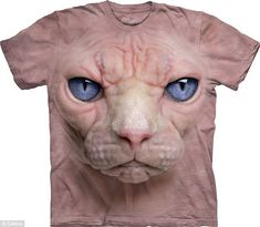 WOW... Not sure if I could wear this one. ...Kind of freaky....it looks alive! :O #T-shirt 3D #Cat