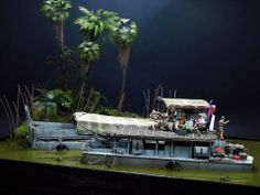 French Army Special Units - Dinassaut - Mekong River - 1950 - Indochina War 1/35 Scale Model Diorama