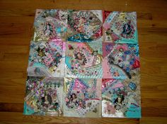 Step by step tutorials for crazy quilting. Crazy Quilting and Embroidery Blog by Pamela Kellogg of Kitty and Me Designs: How To Assemble A CrazyQuilt - Step 1