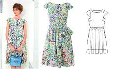 Платье с мини-рукавами #burdastyle #burda #платье #бурда