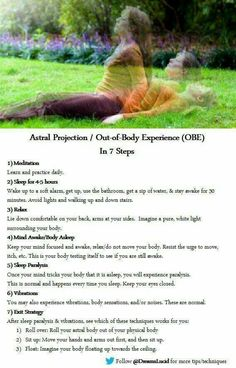 Astral projection / out of body experience (OBE)