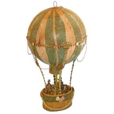 Papier Mache Lavish Hot Air Balloon Folk Art ZNE. $89.99, via Etsy.