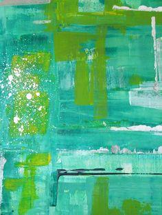 """Pools & Gardens Diptych II""  Acrylic on Canvas 28""x 22"""