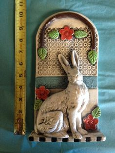 Rabbit Ceramic High Relief Tile by CreativeCellar on Etsy, $85.00