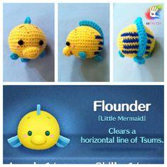 Tsum Tsum Flounder Pattern by uDezignCrafts on Etsy