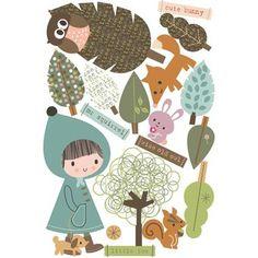 Muur sticker: In het bos
