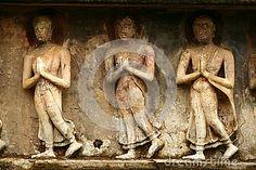 Marbles in Sukhothai complex in Thailand