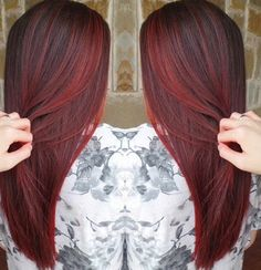 This color is too bright, but I really like the balayage-like style of applying the color.