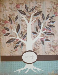 Lots of MOPS crafts - love the idea of the family tree & silhouette brooch.