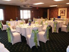 Lime Green and Navy wedding colors make a spring bridal shower pop!