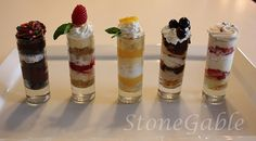 Creative dessert shooters (with recipes!) Not big on desserts, so these easy little delights are my style!