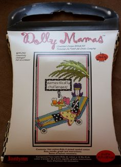 Dolly Mamas/Counted Cross Stitch Kit/Domestically Challenged/ NIP /Size 6-by 10 Inches/ Embroidery Kit /JannLyn by BluetreeSewingStudio on Etsy