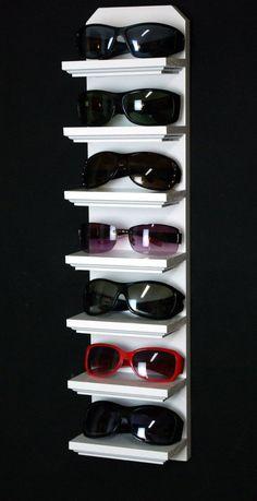 "24"" Gloss White 7 Shelf Wall Mount Sunglasses Display Shelf Rack Organizer on Etsy, $24.95"