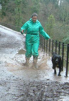 Uploaded from Yahoo! Ladies Wellies, Winter Suit, Pvc Raincoat, Pvc Vinyl, Apron Dress, Dominatrix, Rain Wear, Dog Walking, Rainy Days