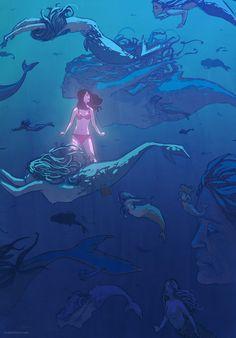 Mermaid Concept Art and Illustrations   Concept Art World