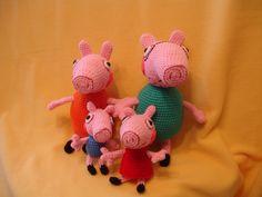 Peppa család a nagyok 27 és 30 cm a kicsik 15 és 19 cm 30, Dinosaur Stuffed Animal, Toys, Animals, Amigurumi, Activity Toys, Animales, Animaux, Clearance Toys