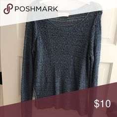 sweater loose knit, blue sweater Hollister Sweaters Crew & Scoop Necks