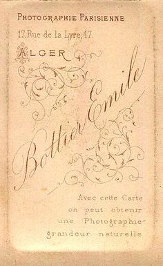 BOTTIER Émile - Photographie Parisienne - Alger