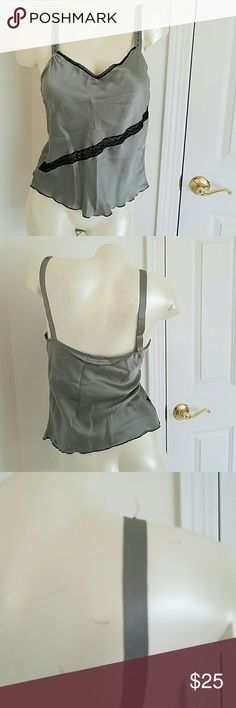 VTG Olive Silk Cami M Vtg Olive Silk Cami. Minor issues missing bead,tiny spot,lining marks on straps but lovely and wearable. Made in USA. Vintage  Intimates & Sleepwear