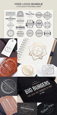 17 Free Vintage Style Logos (PSD)