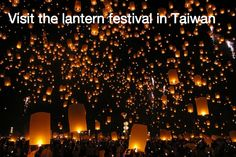Visit the Lantern Festival in Taiwan