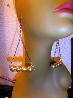 Metallic Gold Earrings Dangling Earrings by CherrysOriginals, $12.00