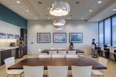 Multi-Use | Lunch Room | Office Kitchen | Goodman Birtcher | Corporate Headquarters | Irvine, California | Interior Design by H.Hendy Associates