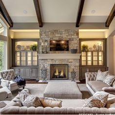 If you were searching for a modern living room design we have just the inspiration that you need in these pictures of modern living room interior design. Home Living Room, Interior Design Living Room, Living Room Designs, Living Room Decor, Kitchen Living, Family Room Decorating, Family Room Design, Cozy Family Rooms, Decorating Ideas