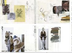 Fashion Sketchbook - drawings and fashion design development with texture explorations and fabric manipulation