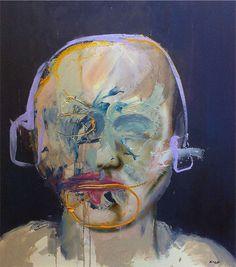 """STEVE SALO; Acrylic 2014 Painting """"Girl emoted"""""""