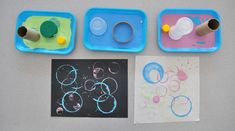Toddler Art Exploration: Printing Circles with Found Objects   Carle Museum