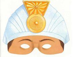 Máscara Rey Mago Gaspar Si prefieres tener unas máscaras coloreadas de los Reyes Magos de Oriente simplemente puedes descargarlas y reco...