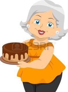 abuela: Ilustración que ofrece una anciana que sostiene una torta Foto de archivo Cartoon Grandma, Cartoon Art, Cartoon Characters, Cartoon Familie, Grandma Tattoos, Diy And Crafts, Paper Crafts, Poster Drawing, Cake Logo