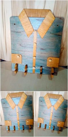 Pallet Shelves Projects Amazing DIY Key Holder Made By Pallets Design Diy Pallet Sofa, Wooden Pallet Furniture, Diy Pallet Projects, Wooden Pallets, Wooden Diy, Diy Furniture, Pallet Wood, Wood Projects, Awesome Woodworking Ideas