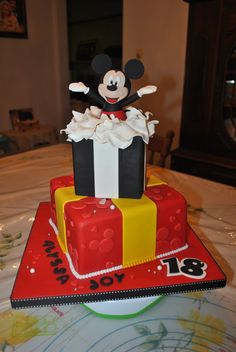 Mickey Mouse cake - Surprise!!!