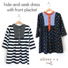 Learn how to add a front placket to the Oliver + S Hide-and-Seek Dress or the Liesl + Co Cinema Dress with this tutorial.