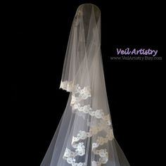 Made-to-Order Only. Youll be breath-taking in this luxurious and enticing, Chapel length, Simplicity style veil. The Simplicity Veil is also