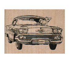New to pinkflamingo61 on Etsy: rubber stamp woman waving from classic car  lady number 9670 stamps stamping (5.40 USD)