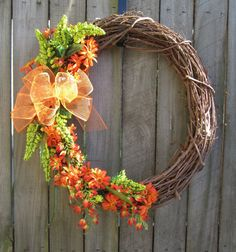 Orange and Lime Spring and Summer Wreath