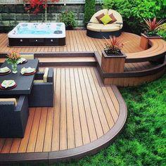 Deck designer & deck design app deck design software for mac Small Backyard Decks, Small Backyard Design, Backyard Patio, Garden Pool, Patio Deck Designs, Patio Design, Back Deck Designs, Floor Design, Deck Design Software