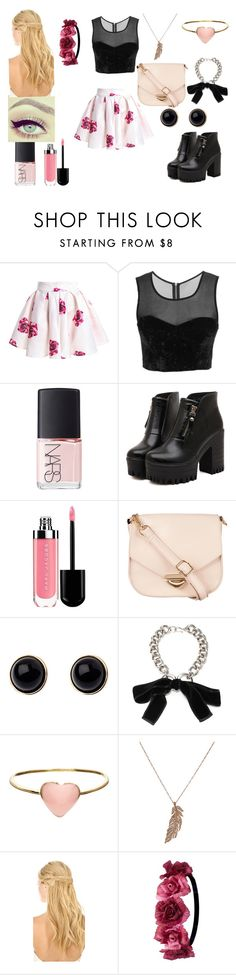 """Untitled #427"" by tokikotsukito-sama ❤ liked on Polyvore featuring beauty, NARS Cosmetics, Dr. Martens, ZALORA, Adele Marie, Alexander McQueen, Orelia, STONE, Pluie and Charlotte Russe"