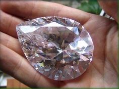228 carat FANCYS Type | A Pear Shaped Almost Colorless Diamond