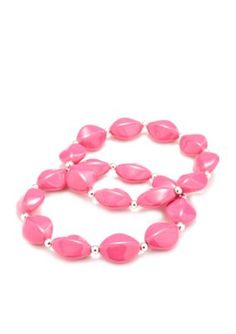 Kim Rogers  Pink Lucite174 Double Stretch Bracelet